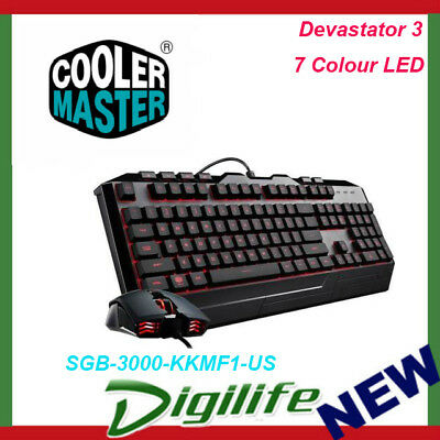 Cooler Master Devastator 3 Mem-chanical Keyboard and Mouse Combo 7 Color LED
