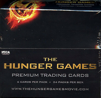 2012 NECA THE HUNGER GAMES Premium Trading Cards Factory Sealed Box 24 Packs NEW