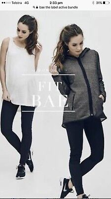 Bae The Label Maternity Activewear TShirt Jacket And Leggings Size XS