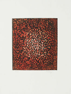 Mark Tobey - Awakening Earth Color Etching - Autographed - Edition 90 EX