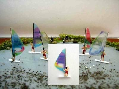 (WA05) Surfer lilac windsurfing sail Scale Gauge Z (1:220)