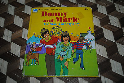 Donny and Marie The State Fair Mystery Whitman Tell A Tale Book 1977 hardcover