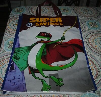 "NYCC 2015 Comic Con Superhero Super Gecko Geico Giant JUMBO Promo Bag 25"" 2 ft+"