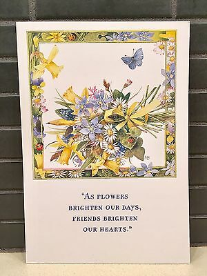 Marjolein Bastin Friendship Card W/Envelope~Wildflower Mornings~Hallmark