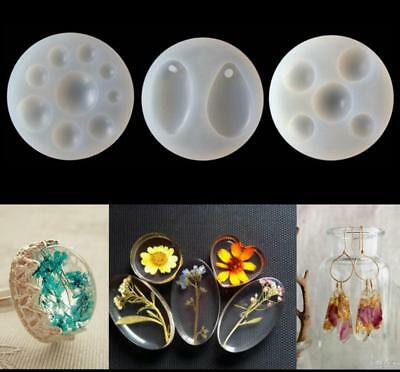 Teardrop Silicone Cake Crystal Pendant Mold Resin Pendant Jewelry Making Tools