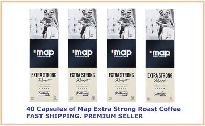 40 Capsules Map Coffee Extra Strong Roast Caffitaly System