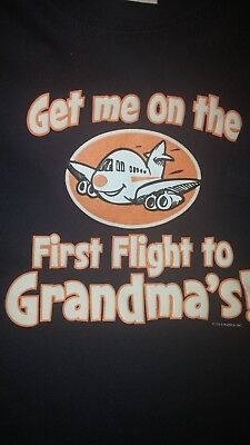 Shirt 4T, Boy or Girl, 100% Cotton, NWOT, Navy with Airplane and Grandma Theme