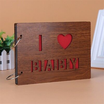 8 Inch Wood Cover 30 Sheets Self-Adhesive Photo Album Baby Memory Sketchbook