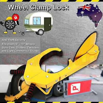 1x Anti-Theft Wheel Clamp Disc Lock Security Safety Auto Car Vehicle Heavy Duty