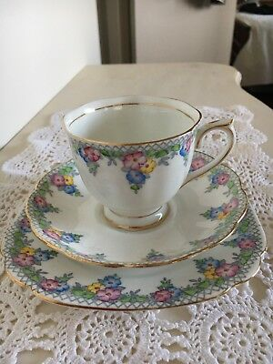 "Royal Albert ""Trellis"" Trio"