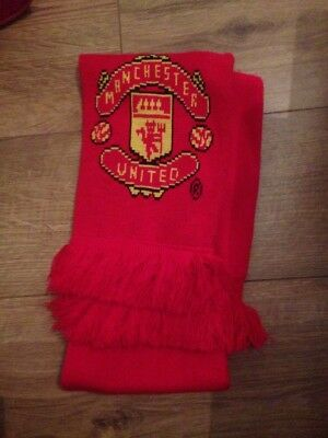 Manchester United Football Scarf BNWT Red