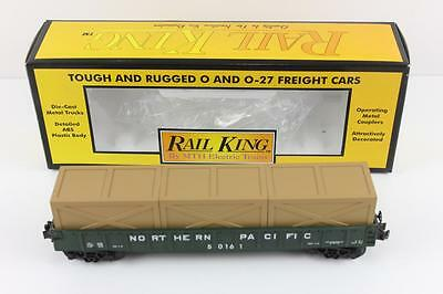MTH O scale Rail King North Pacific gondola wagon with crates