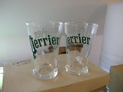 6 Original Vintage Perrier Water Drinking Glasses French Tumblers Retro - New