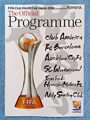 2006 - Fifa Club World Cup Tournament Programme - Featuring Barcelona