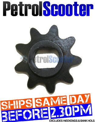 9 TOOTH 6mm Electric Scooter Motor SPROCKET Fits Oval 8mm Shaft Motor Spindle
