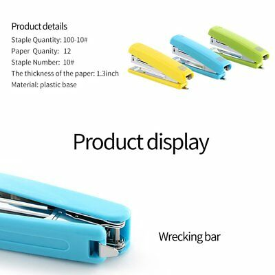 Mini Stapler Plastic Stationary Set Paper Office Binding 12 Pages Save Effort IL