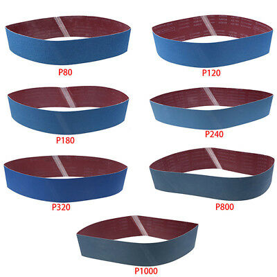 80-1000 Grit Sanding Belts Abrasive Polish Tools Sanding Sharpening Belt Groovy