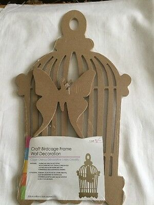 Crafts Birdcage Frame Wall Decoration