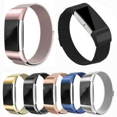 Metal Stainless Milanese Magnetic Wrist Band Strap For FitBit Charge 2 Wristband