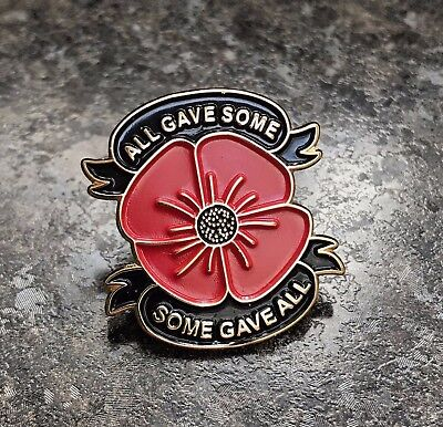 All Gave Some Poppy Enamel Pin Badge Lapel | Remembrance 2017 | Charity Listing