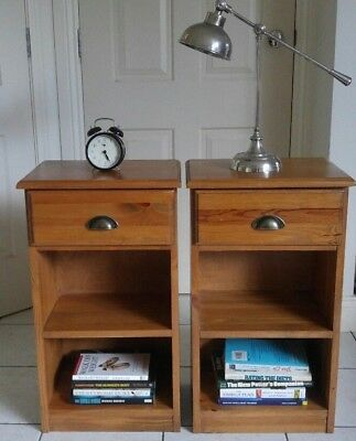 VGC 2 (a pair) bedside tables solid TIMBER bed side stands