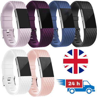 LUXURY Soft Watch Strap for Fitbit Charge 2 Replacement Band Bracelet Silicone