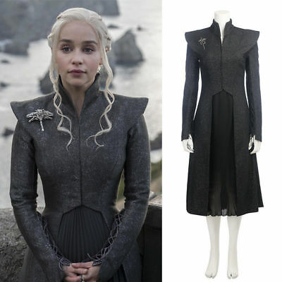 Cosplay Game of Thrones Season 7 Daenerys Targaryen Mother of Dragons Costume