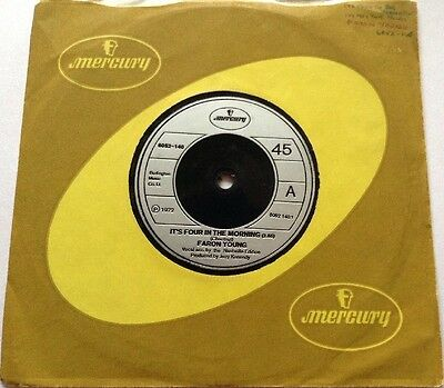 Faron Young - It's Four In The Morning / It's Not The Miles - 1972 - Excellent.