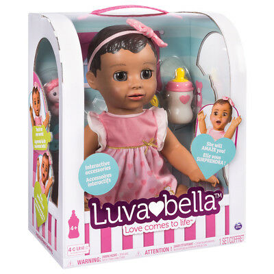 Luvabella Brunette Brand new in box Interactive baby doll Spinmaster BNIB
