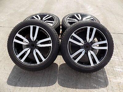 "Genuine 20"" Black Discovery 4 Landrover Alloys With Diamond Finish With Tyres"