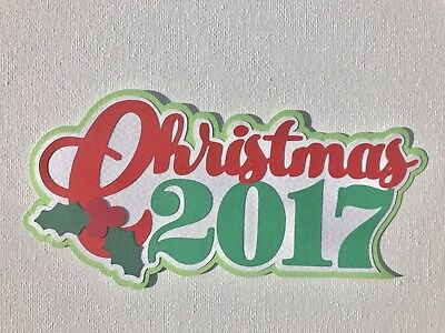 Fully assembled 'Christmas 2017' scrapbook title