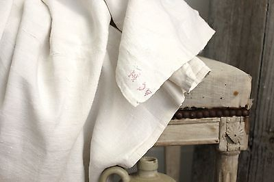 Antique French linen sheet finely woven linen CLOTHING WEIGHT 19th old 87X117