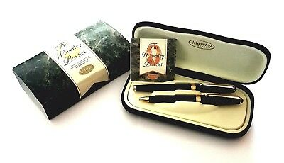 The Waverley Pen Set Waverley 1770 Fountain Pen & Ballpoint Pen, w/ Luxury Case
