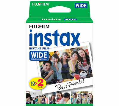 20 x Shots Fujifilm Instax Wide Film for Fujifilm 300 210 200 100