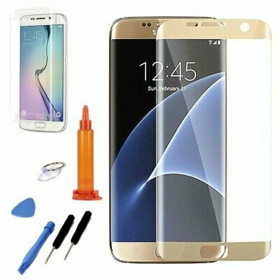 OEM Gold Replacement Screen Front Glass Repair Tools For Samsung Galaxy S7 Edge
