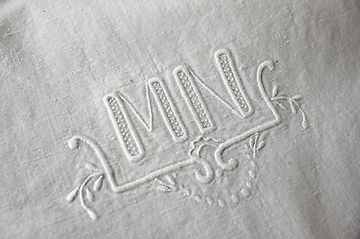 Vintage French Sheet cotton 80X112 MN textile from France French knots old