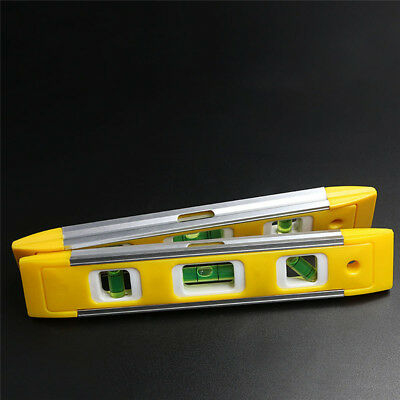 Portable Magnetic Level Torpedo Level Easy Read V-Groove Spirit Level Ruler