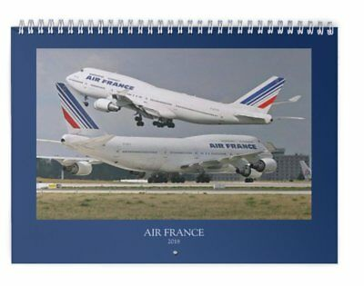 AIR FRANCE - NEW 2018 WALL Calendar  - 707 747 727 A380 A320 CONCORDE DC3