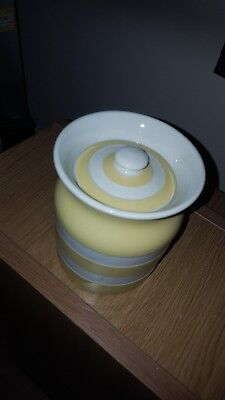 T G Green Cornishware Rare Buttercup Yellow Storage Jar Mint Condition