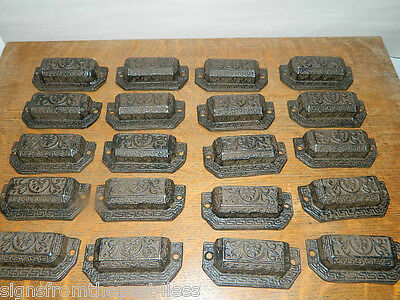 Lot of 25 Pulls~ Industrial Tool Seed Index File Bin Pull or Handles