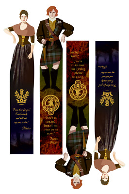 "JamieClaire Fraser (""Outlander"" by D.Gabaldon) bookmarks, PDF, A4 download"