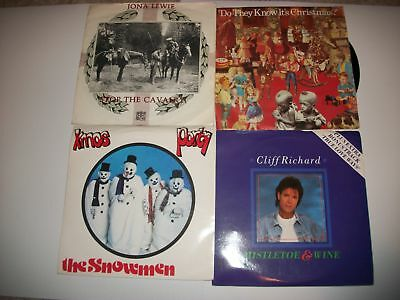 Lot of Four Classic Christmas Singles in Picture Cover