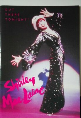 """Shirley Maclaine """"out There Tonight"""" Souvenir Programme Brochure / 1991"""