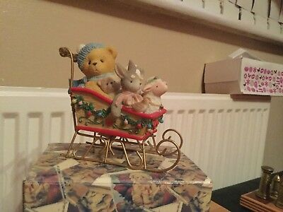 Cherished teddies BRIAN @ BOY WITH TOYS IN SLEIGH VERY GOOD CONDITION @ 533807