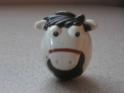 Milky Bar Kid Horse Weeble in Good Condition Rare