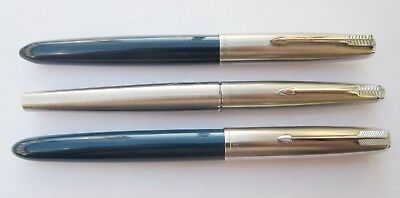 3 Parker 21 45 & 51 F/pens. All Complete. N/res