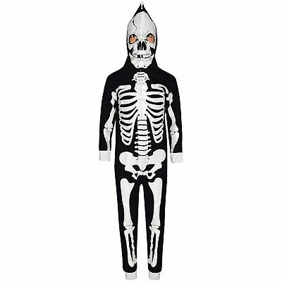 Kids Boys Girls Skeleton Print A2Z Onesie One Piece Halloween Costume 5-13 Year