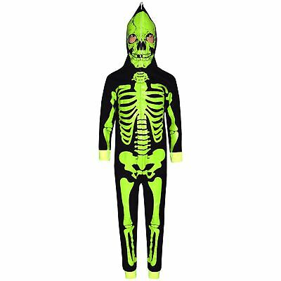 Kids Girls Boys Skeleton Print A2Z Onesie One Piece Halloween Costume 5-13 Year