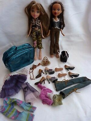 Bratz Dolls & Accessories - H/Bags, Clothes, Shoes, Boots, Spare Feet Toy Bundle