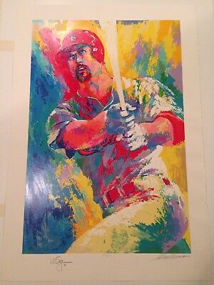 MARK McGWIRE SERIGRAPH SPORTS ART BY LEROY NEIMAN / ED. 451/509